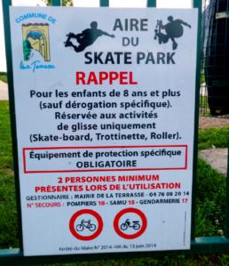skate-park La Terrasse panneaux impression pub grésivaudan