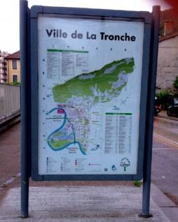 plan de la ville de La Tronche pub grésivaudan création enseigne-grenoble-isere