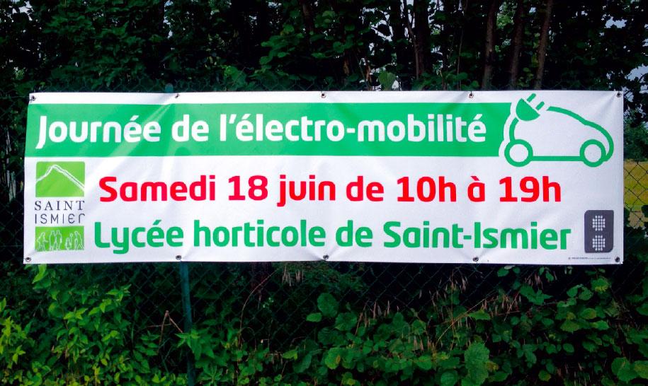 Lycée horticole St-Ismier banderole