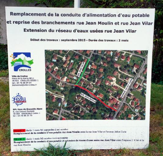 informations Crolles travaux signaletique-temporaire- imprimerie pub grésivaudan