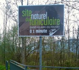 Funiculaire St-hilaire-du-touvet-pubgresivaudan-panneausurmesure-grenoble-isere-stationdeski