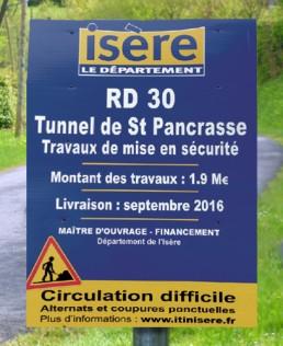 Circulation st Pancrasse signaletique-temporaire- imprimerie pub grésivaudan