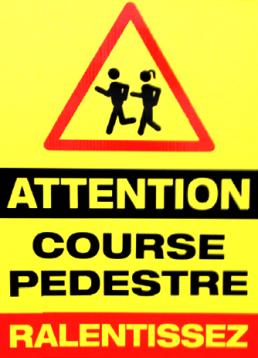 signalétique extérieurs temporaires Course pédestre pub grésivaudan