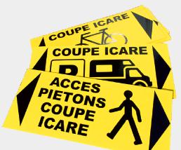 signaletique-temporaire-pieton-coupe-icare pub grésivaudan-grenoble-isere