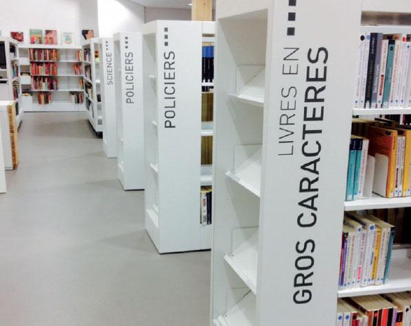 Bibliothèque adhésif intérieur