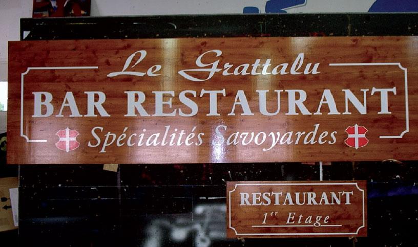 Restaurant Grattalu enseigne