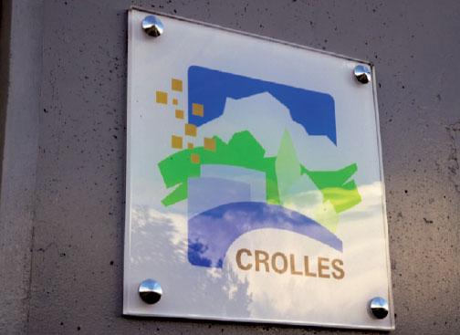 gravure plaque signalétique ville de Crolles
